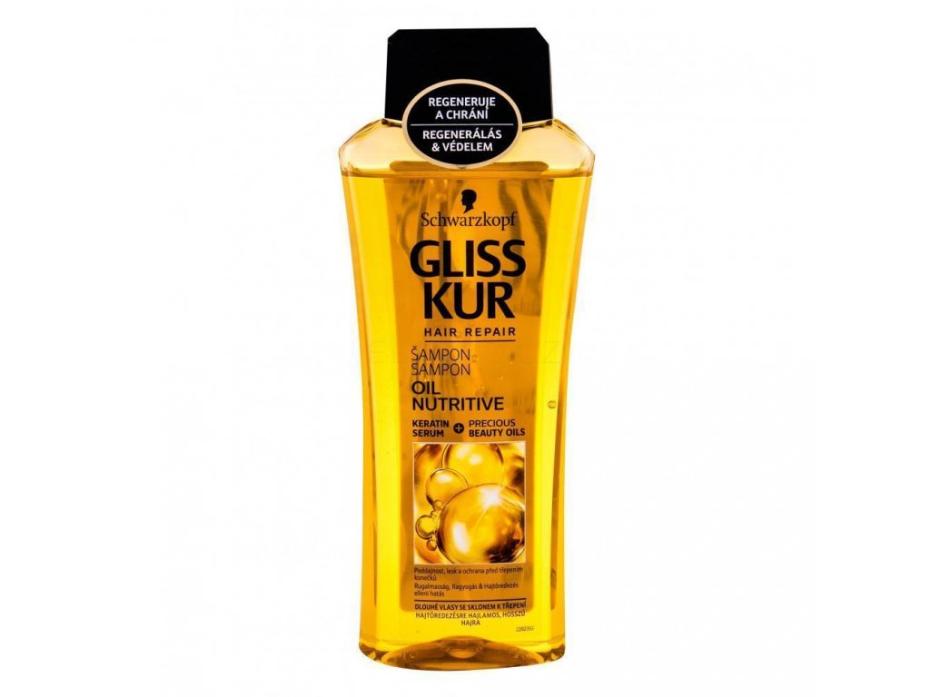 schwarzkopf gliss kur oil nutritive sampon pro zeny 400 ml 310036