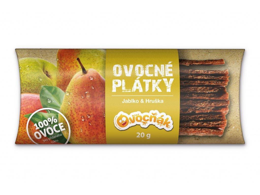 Ovocňák Ovocné plátky jablko-hruška 20 g