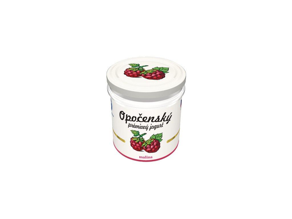 Bohe Milk Opočenský prémiový jogurt malina ve skle 150 g