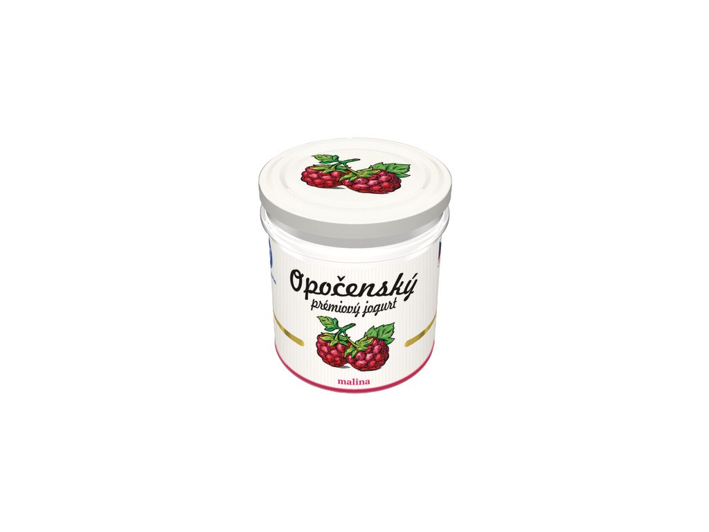Opočenský prémiový jogurt malina ve skle 150 g