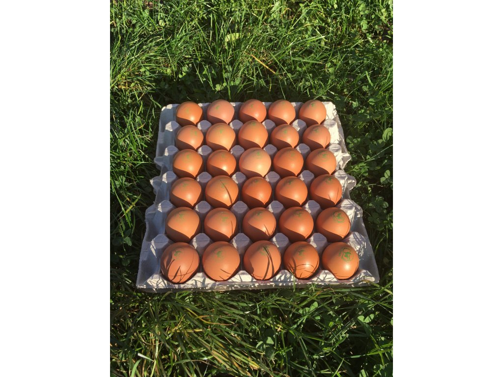 Farmářská vejce z volného výběhu ,, 30 ks ,,