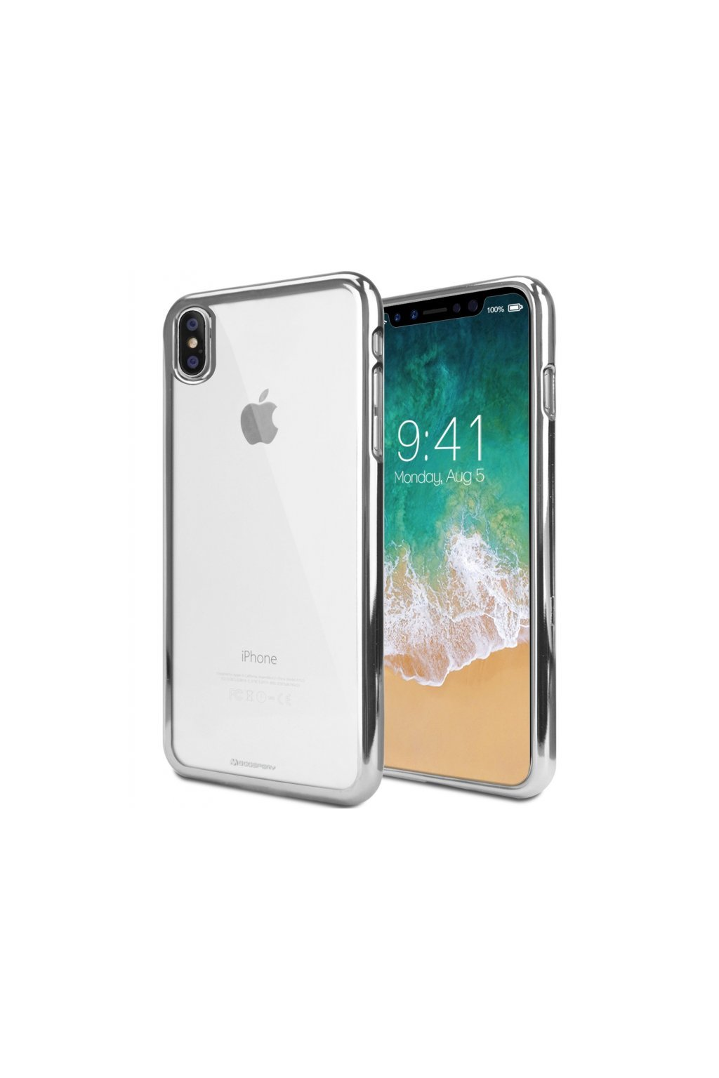 16610 ochranny kryt pro iphone xs max mercury ring2 silver