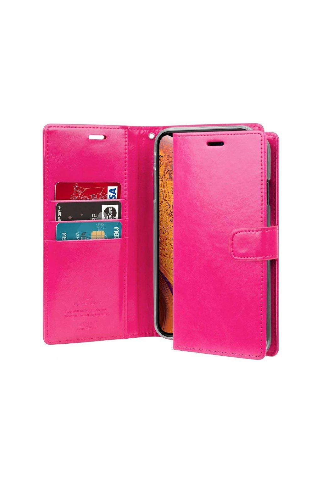 17084 pouzdro kryt pro iphone xs max mercury bluemoon diary hotpink