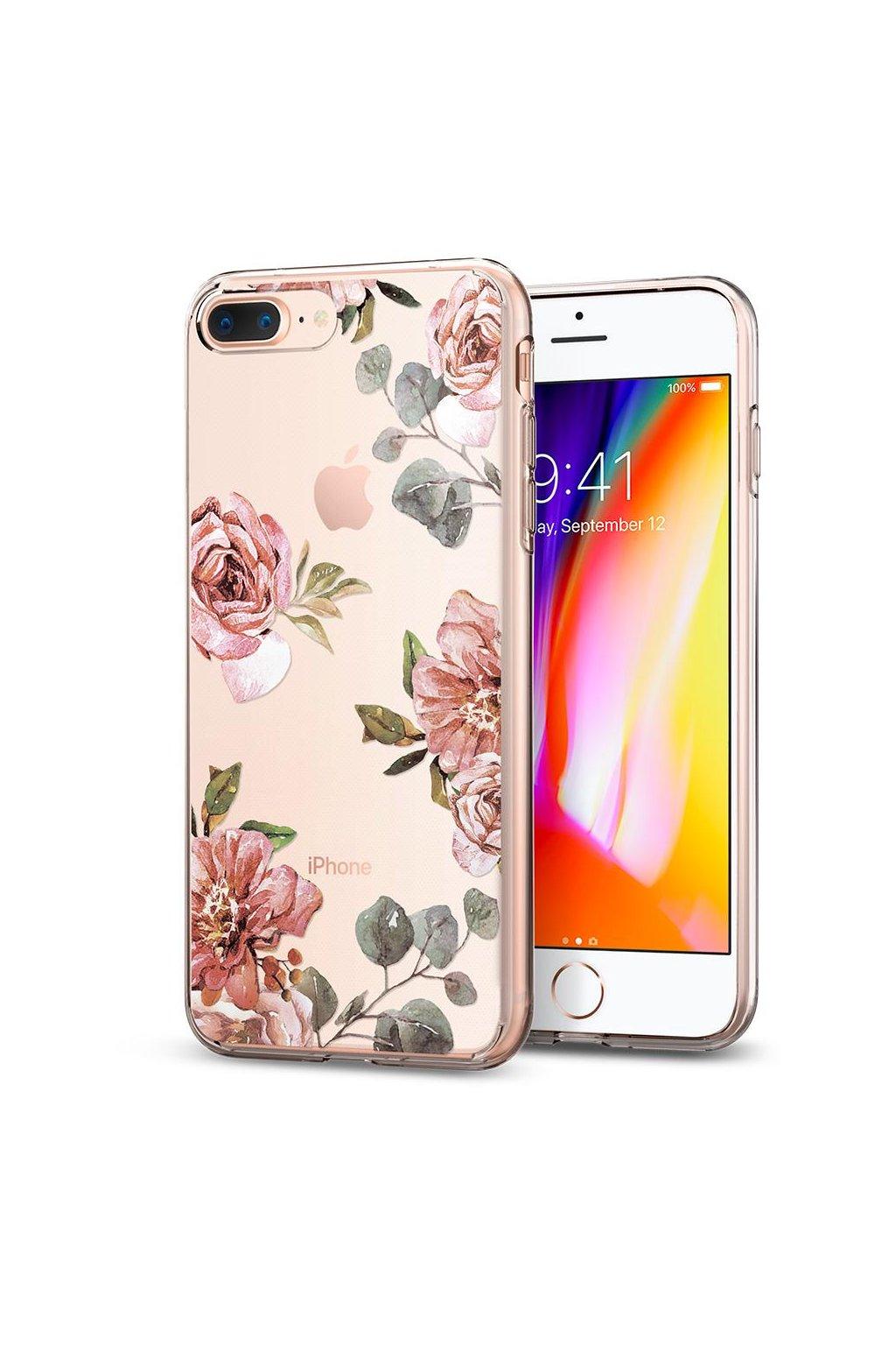 2060 spigen liquid crystal kryt iphone 7 8 plus aquarelle rose