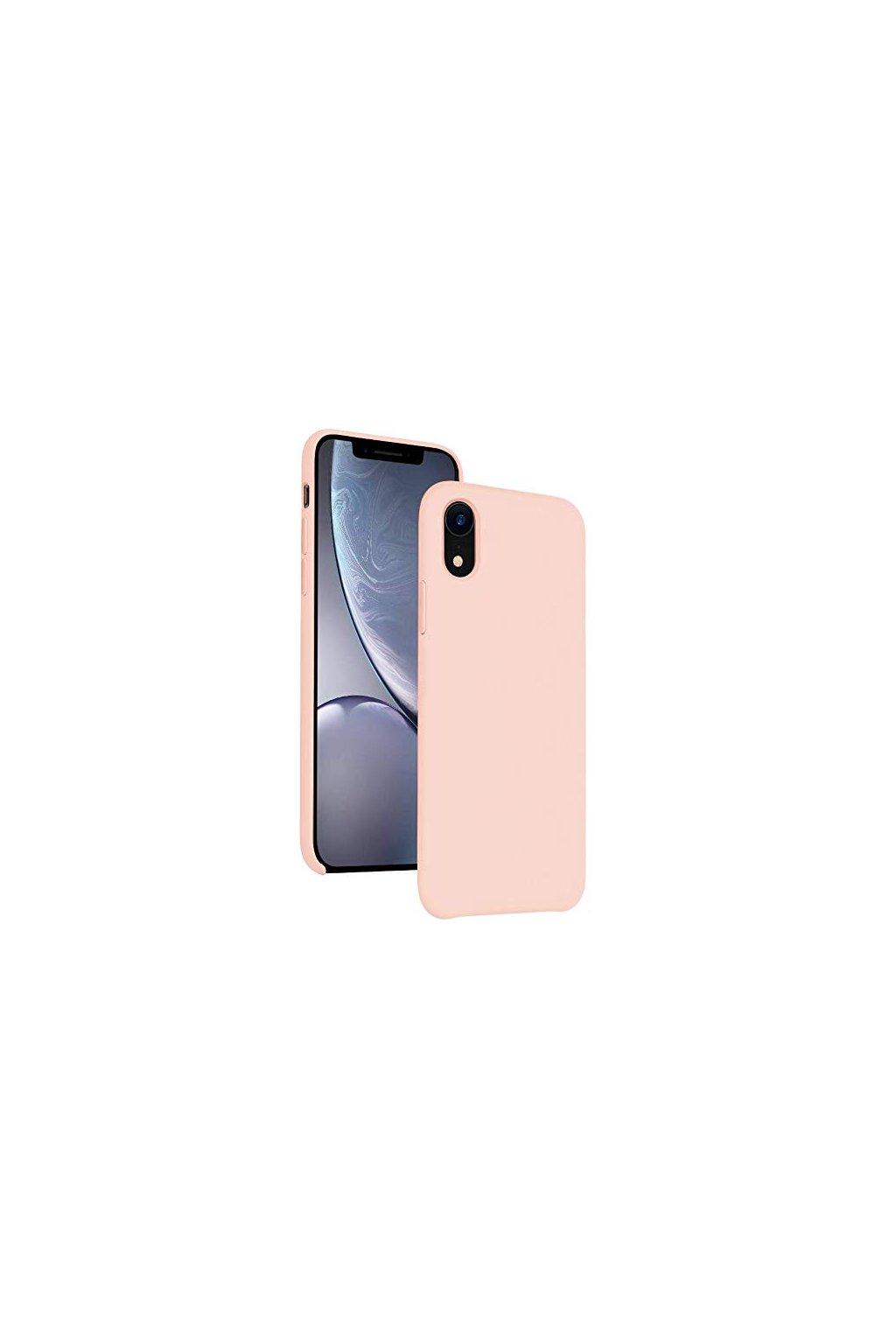 2201 silikonovy kryt pro iphone xr ruzovy