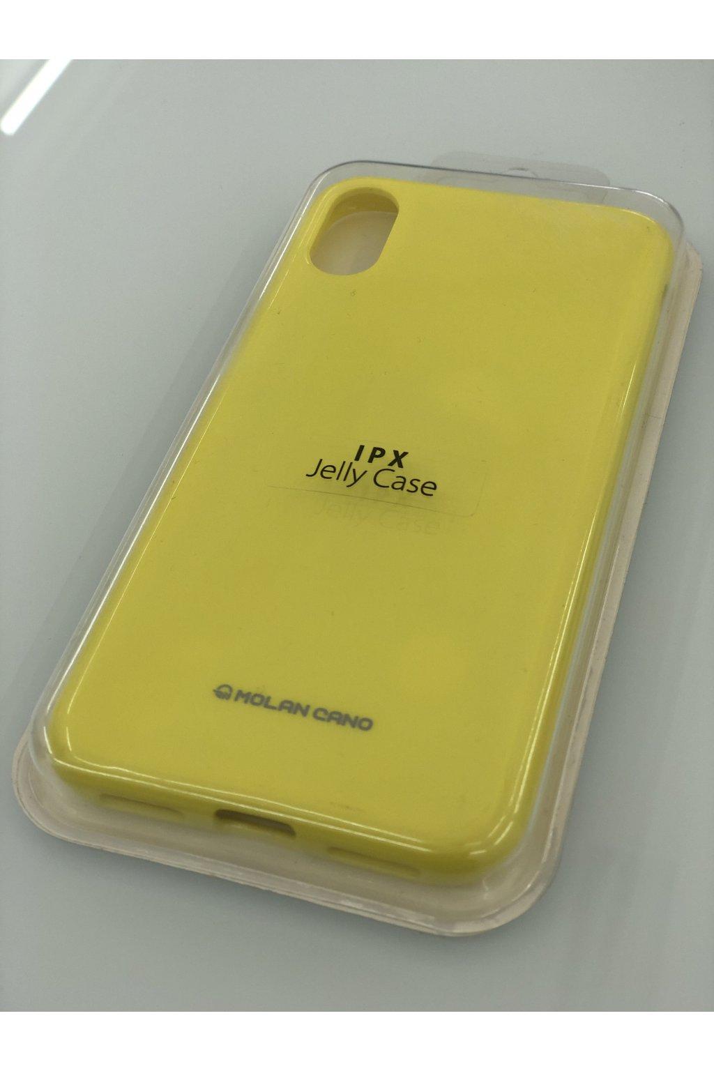 2237 molan cano jelly case pro iphone x xs zluty