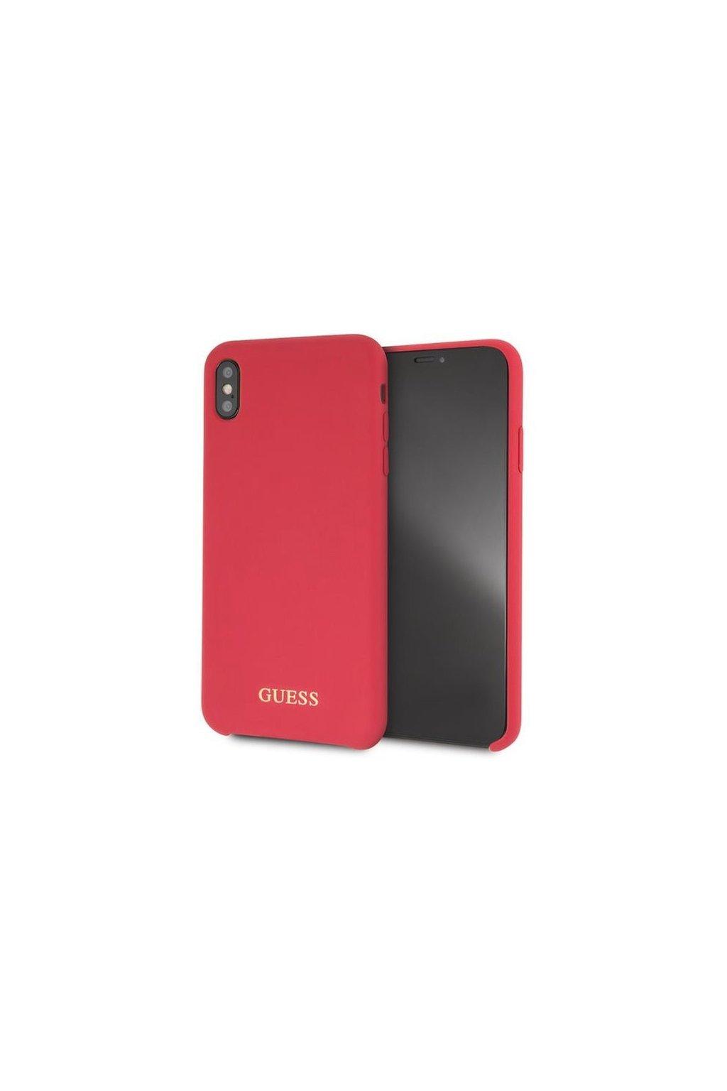 2354 guess ochranny silikonovy kryt iphone xs max cervene