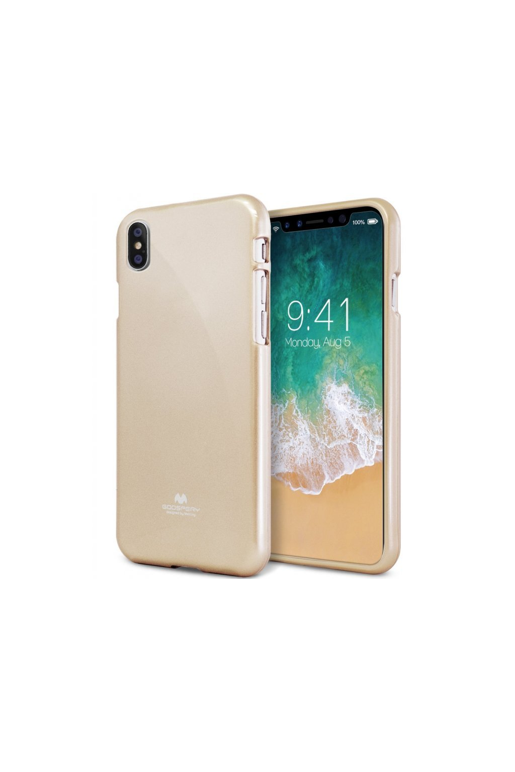 2552 ijelly case pro iphone x xs glossy gold