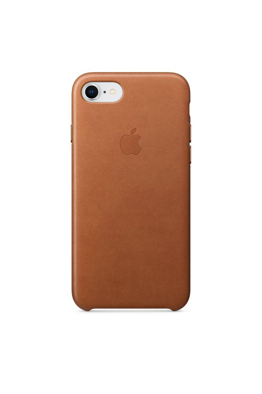 2939 iphone 7 8 originalni kozeny apple kryt saddle brown