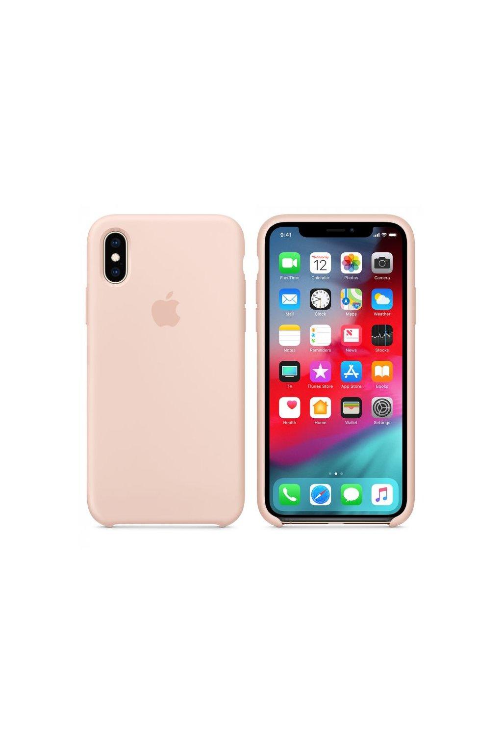 2972 iphone xs originalni silikonovy apple kryt pink sand