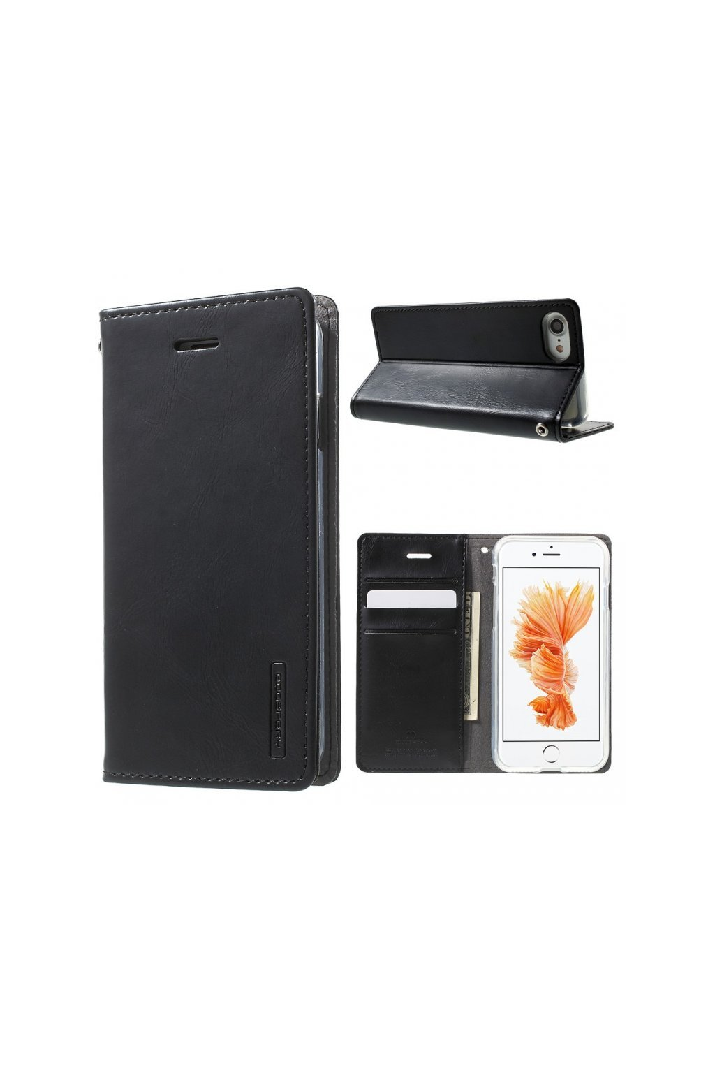 7310 pouzdro kryt pro iphone 7 8 mercury bluemoon flip black