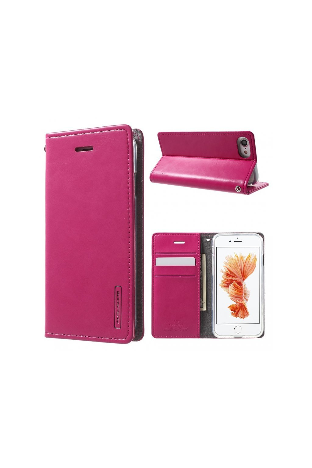 7319 pouzdro kryt pro iphone 7 8 mercury bluemoon flip hotpink