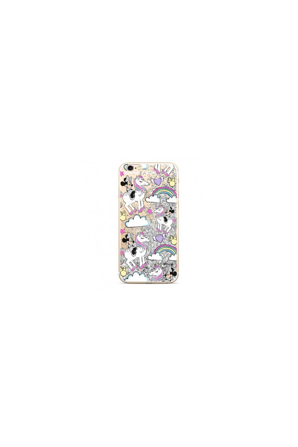 etui nakladka plynny brokat disney minnie 037 iphone 7 8 srebrny