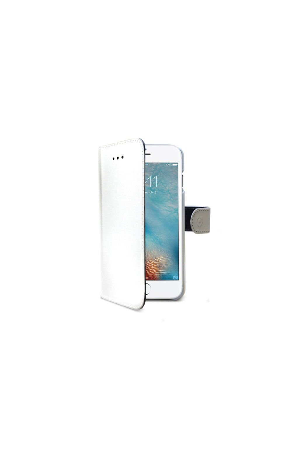 1637 celly wally bily kozenkovy obal iphone 7 8 white