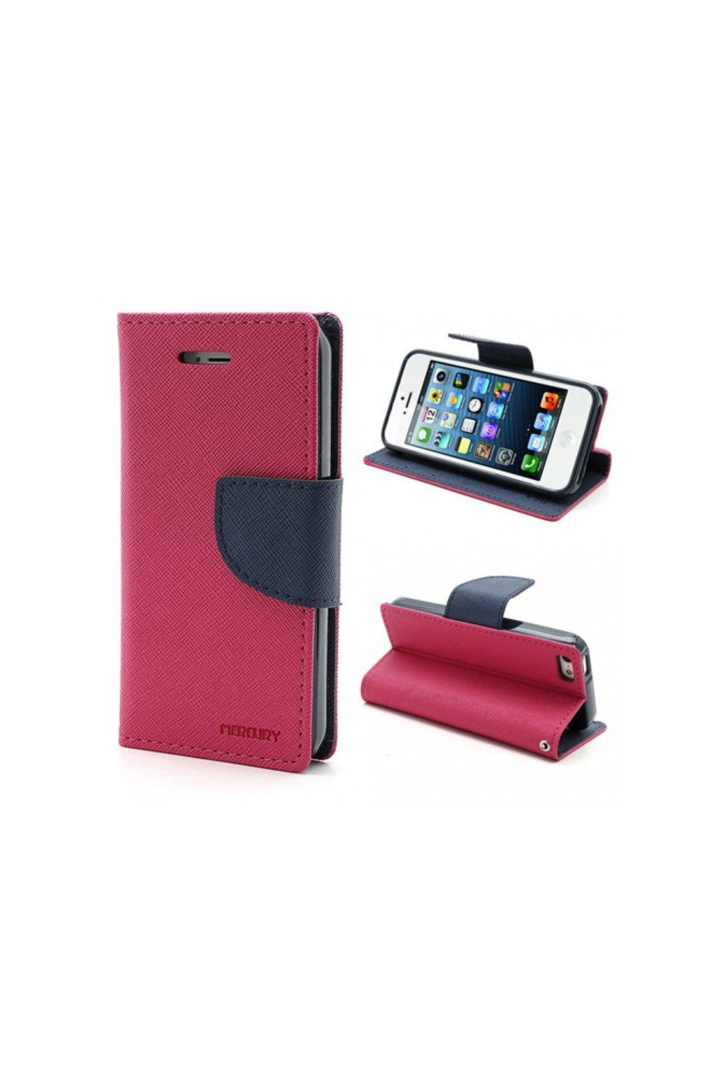 6998 pouzdro kryt pro apple iphone 5 5s se mercury fancy diary hotpink navy