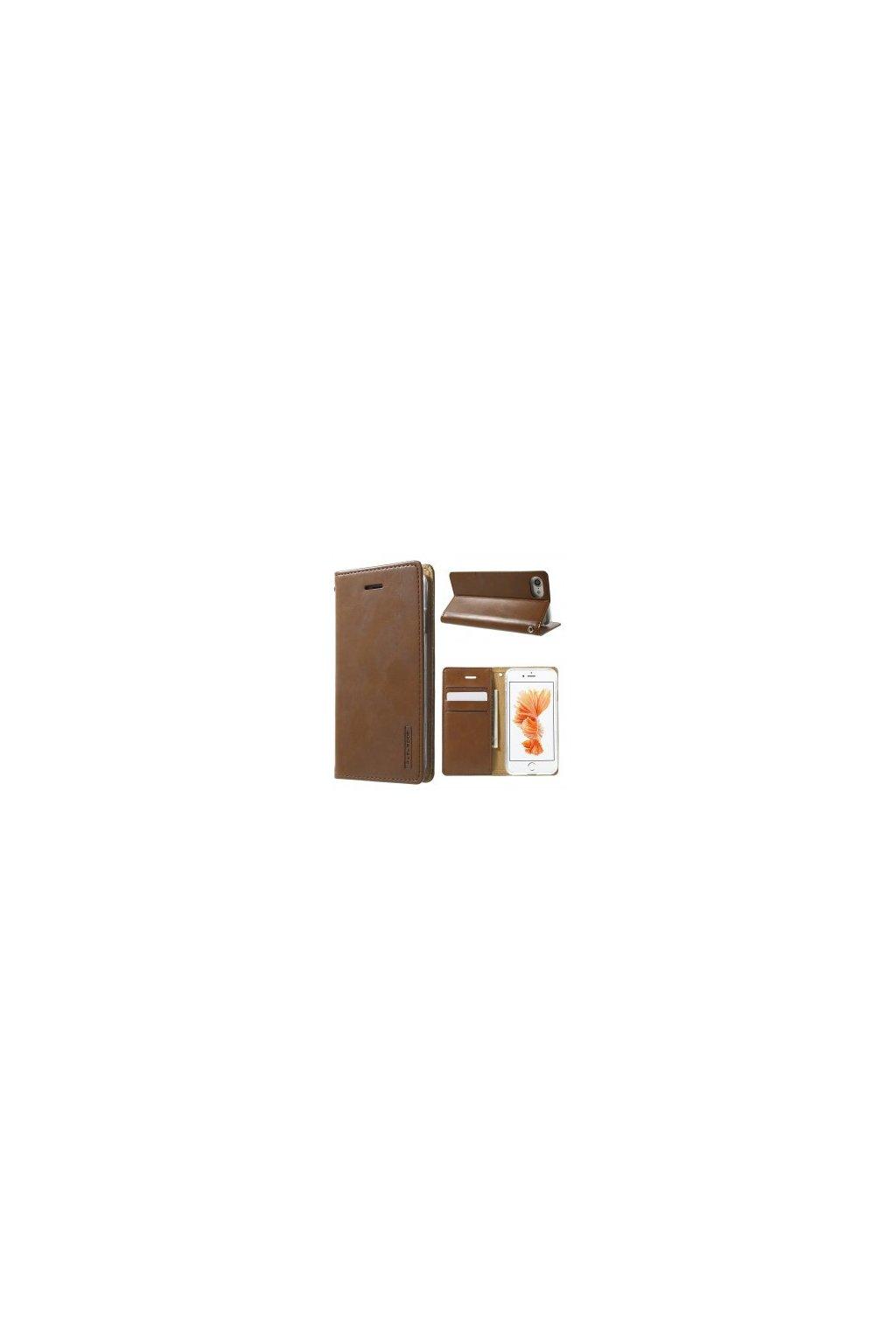 7313 pouzdro kryt pro iphone 7 8 mercury bluemoon flip brown