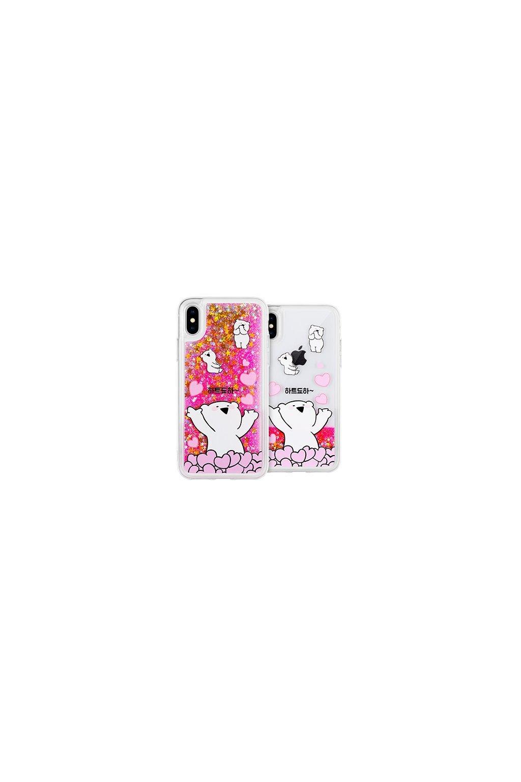 17189 ochranny kryt pro iphone 7 plus 8 plus mercury rabbit glitter heart