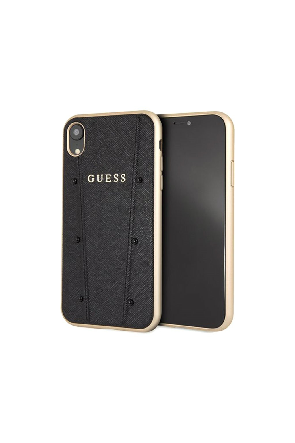 Guess Kaia Designer Case for iPhone XR Black Gold 3700740437117 20102018 01 p