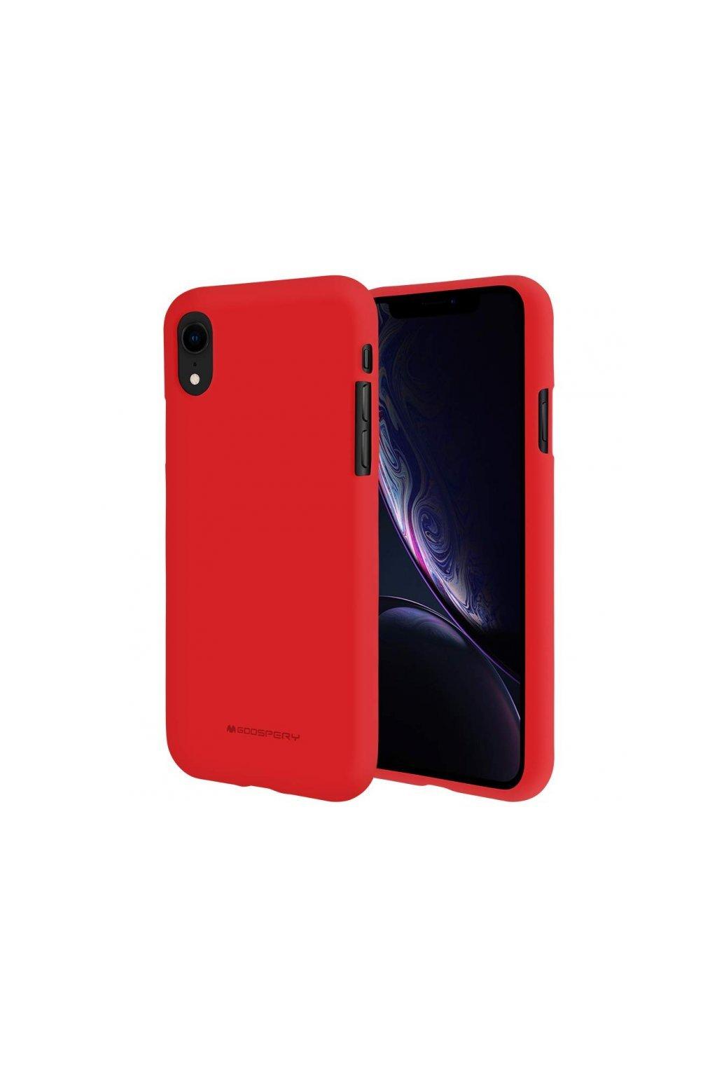 16295 ochranny kryt pro iphone xr mercury soft feeling red