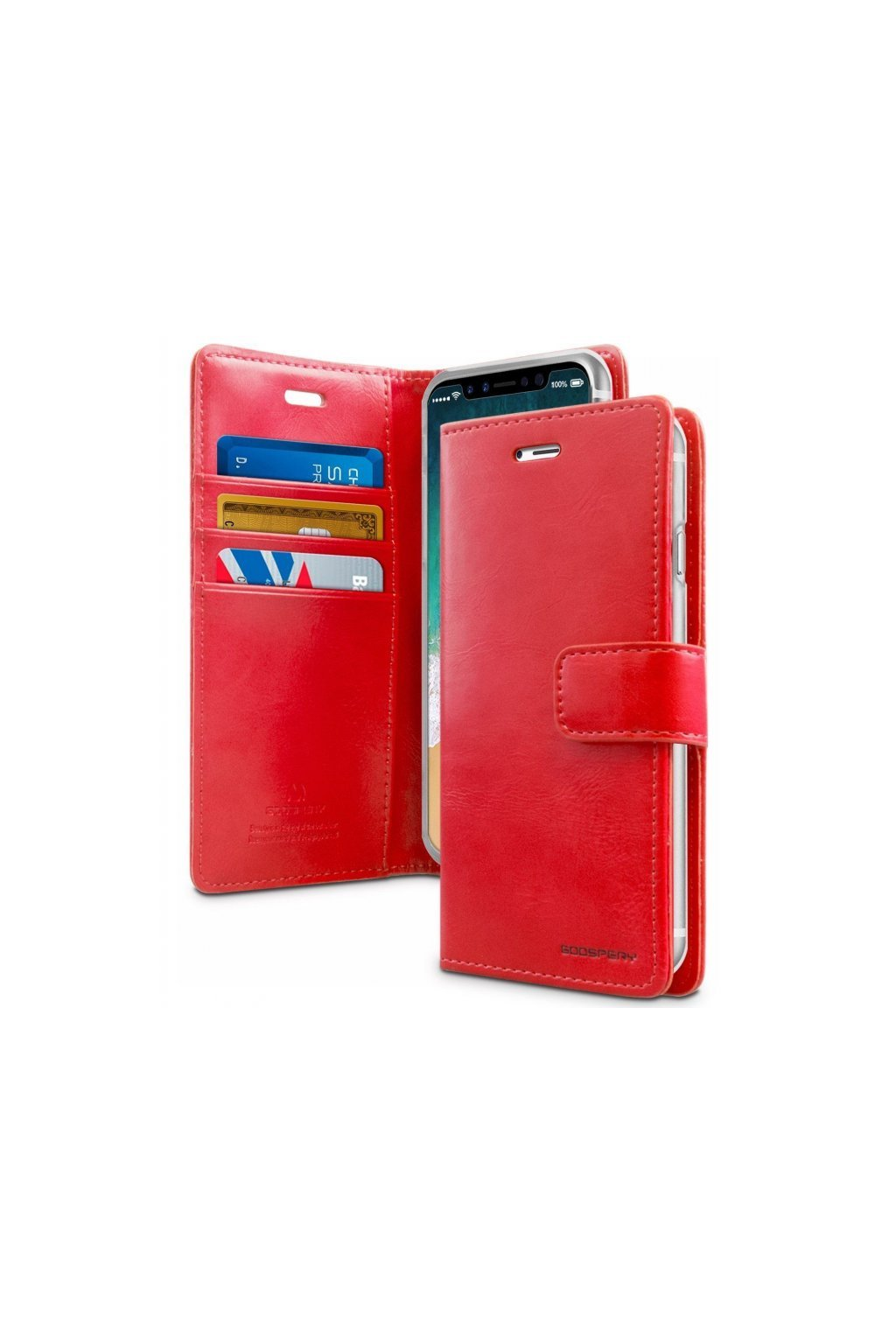 17075 pouzdro kryt pro iphone xs max mercury bluemoon diary red