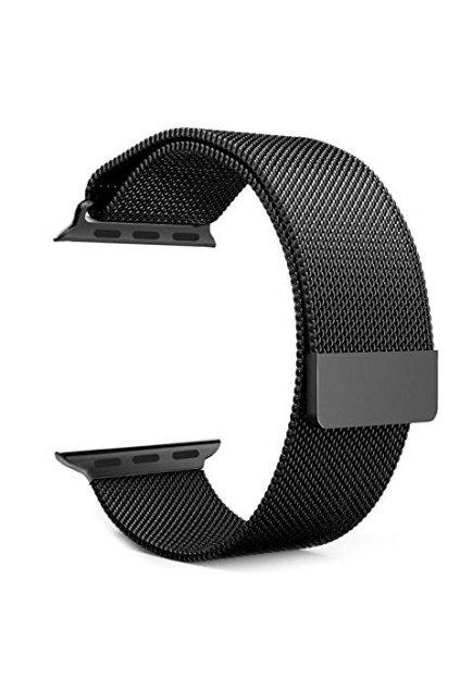 Milánský tah Devia černý pro Apple Watch 38/40mm