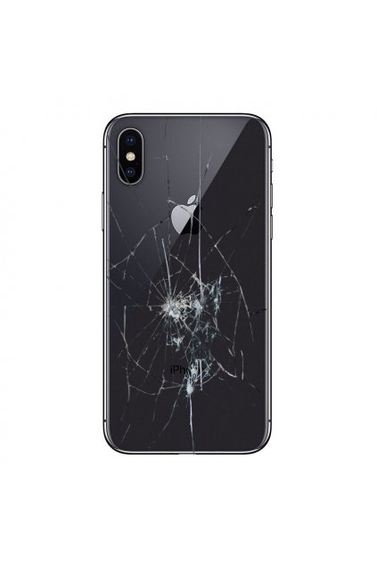 iPhone X Back Cover Reparation Glass Only Black 08102019 1 p