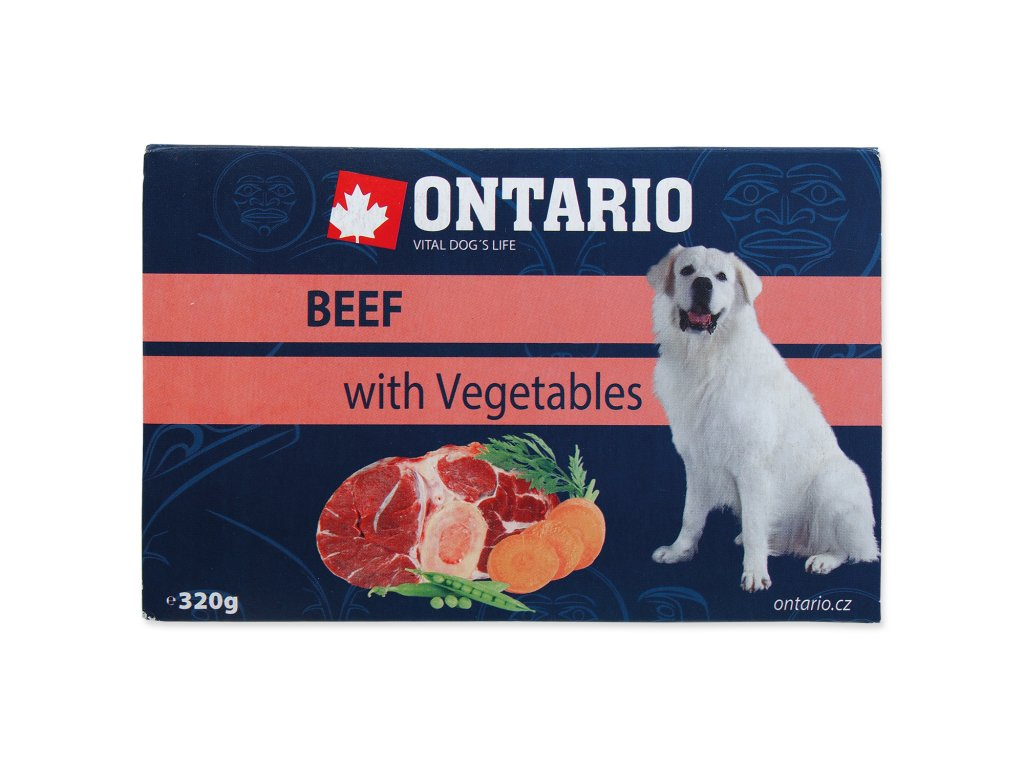 Vanička ONTARIO Dog Beef with Vegetable 320 g