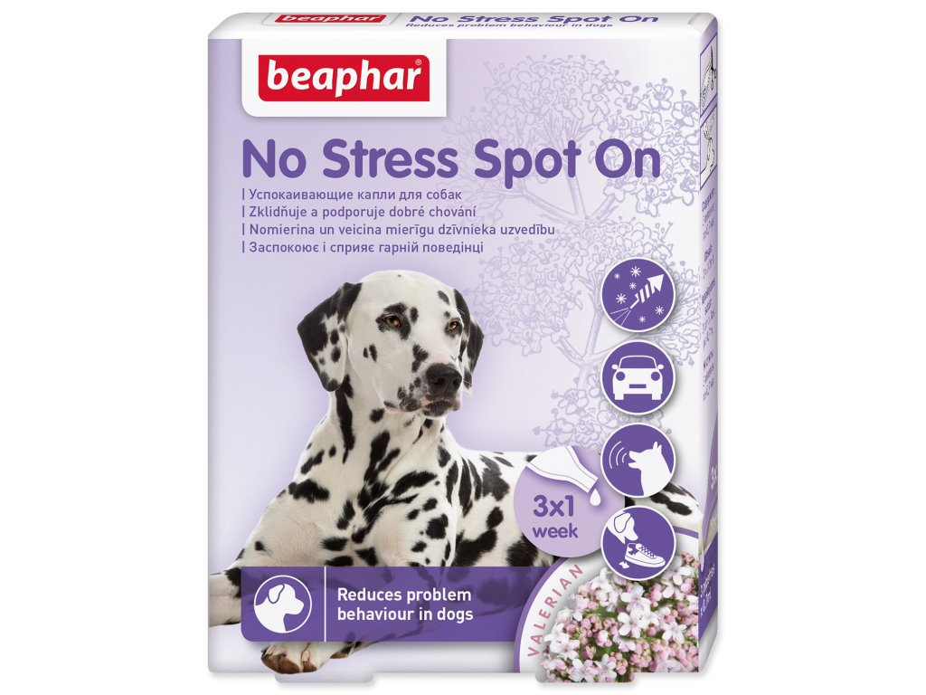 BEAPHAR No Stress Spot On pro psy 2,1 ml
