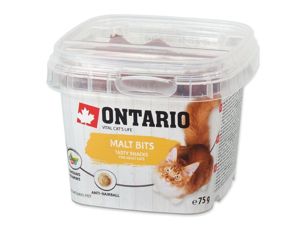 Snack ONTARIO Cat Malt Bits 75 g