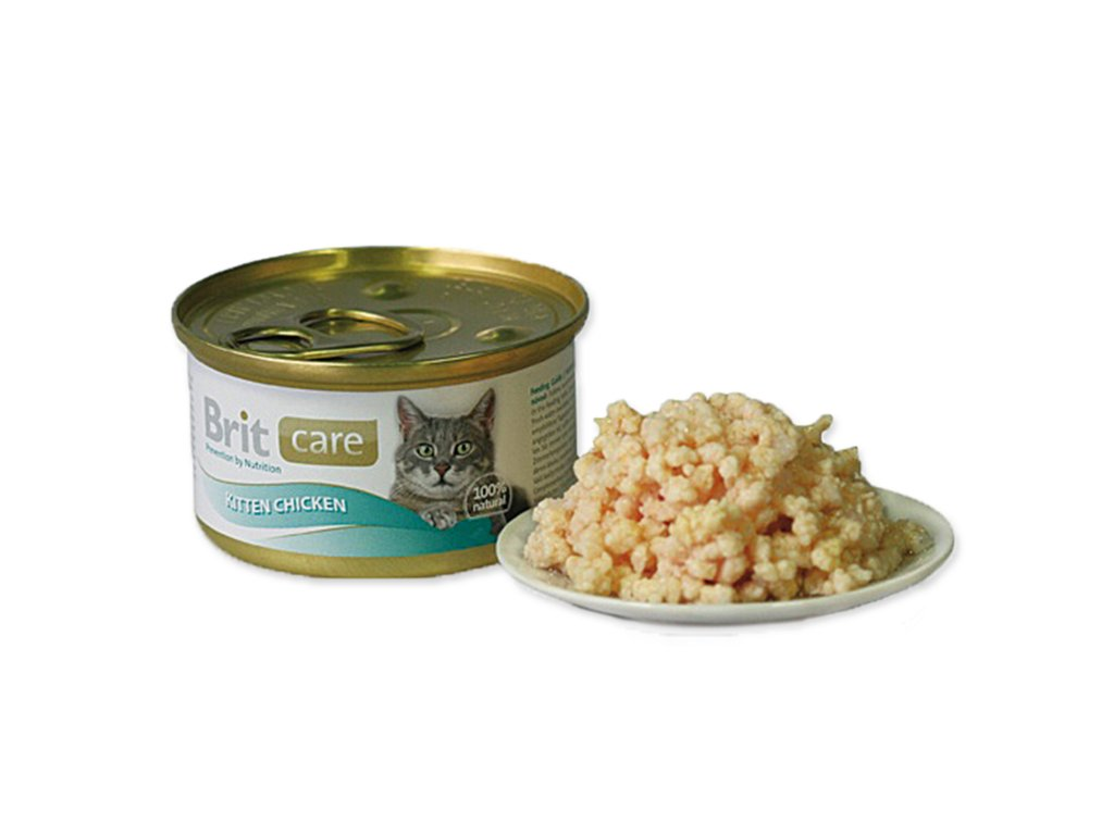 Konzerva BRIT Care Kitten Chicken 80 g