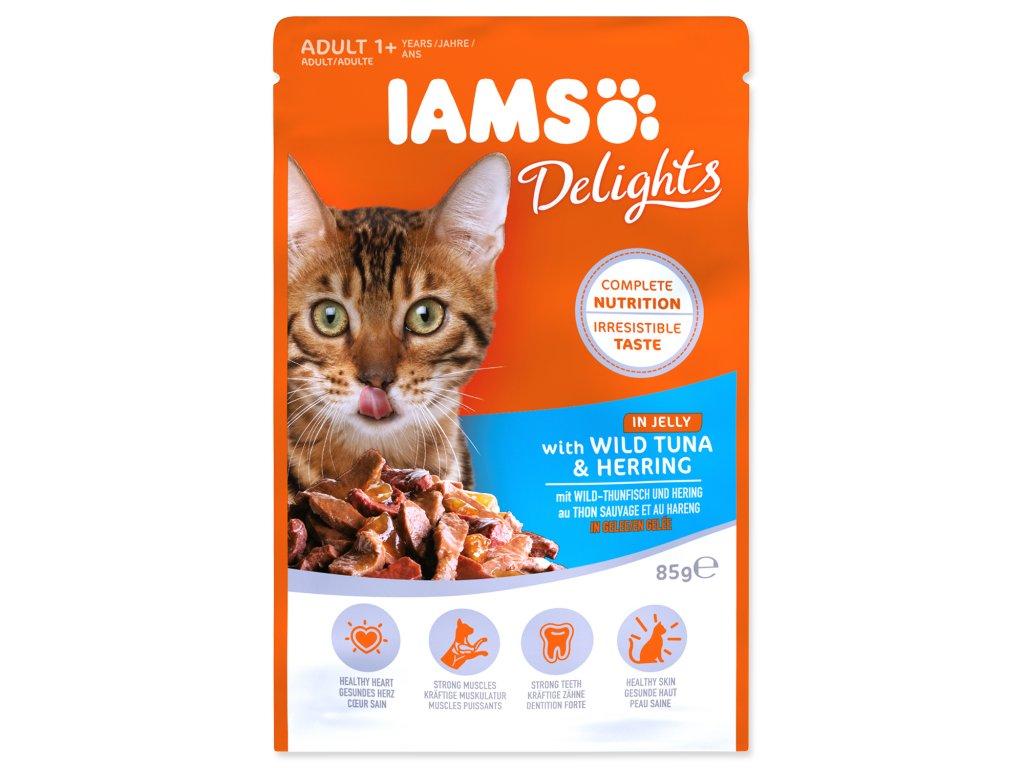 Kapsička IAMS Cat Delights Tuna & Herring in Jelly