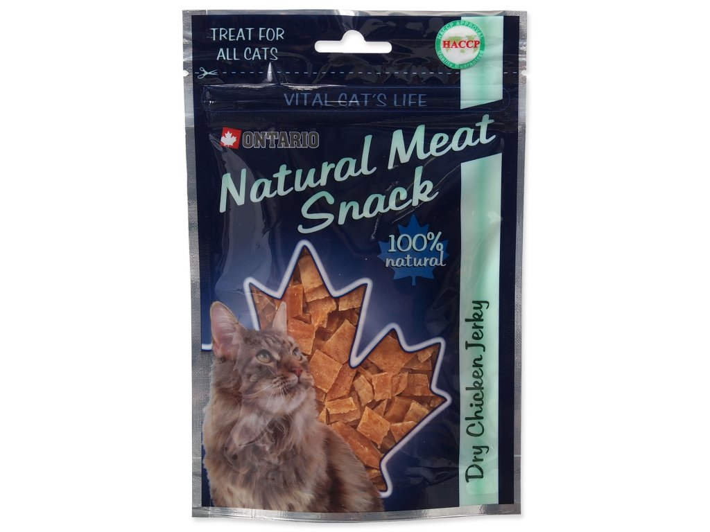 Snack ONTARIO Cat Dry Chicken Jerky 70 g