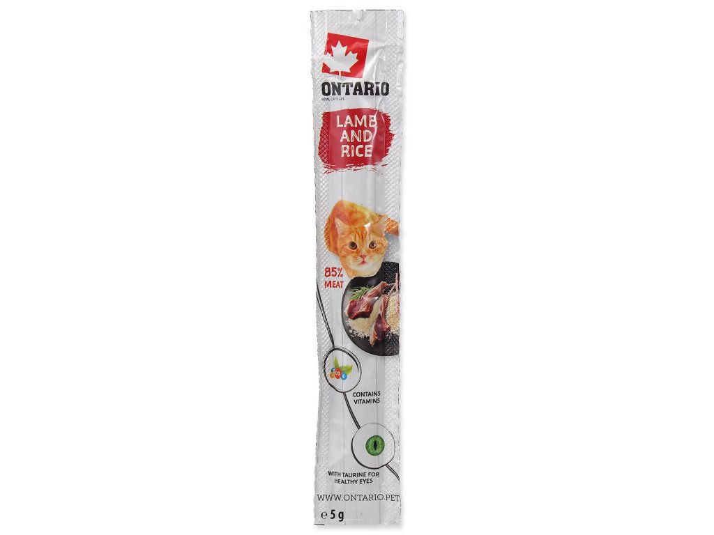 Stick ONTARIO for cats Lamb & Rice 5 g
