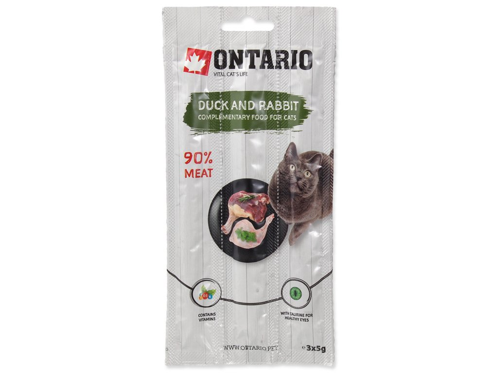 Stick ONTARIO for cats Duck & Rabbit 15 g