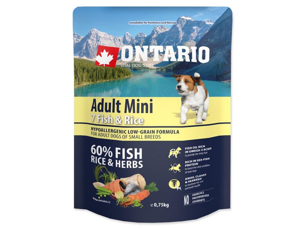 ONTARIO Dog Adult Mini Fish & Rice