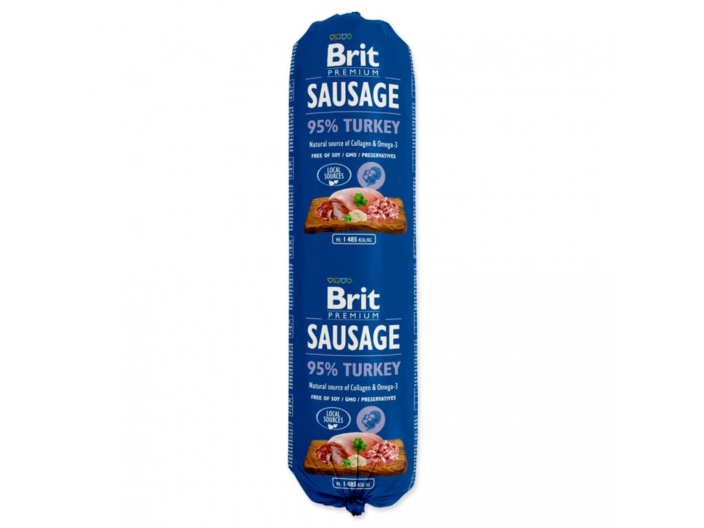 Salám BRIT Premium Dog Sausage Turkey