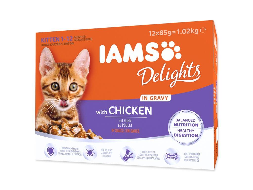 Kapsičky IAMS Kitten Delights Chicken in Gravy multipack