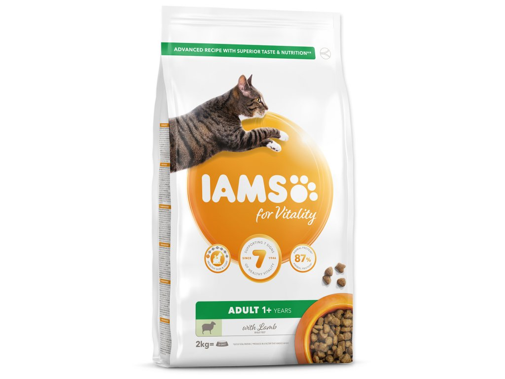 IAMS for Vitality Adult Cat Food with Lamb