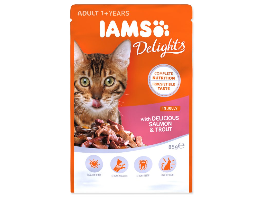 Kapsička IAMS Cat Delights Salmon & Trout in Jelly