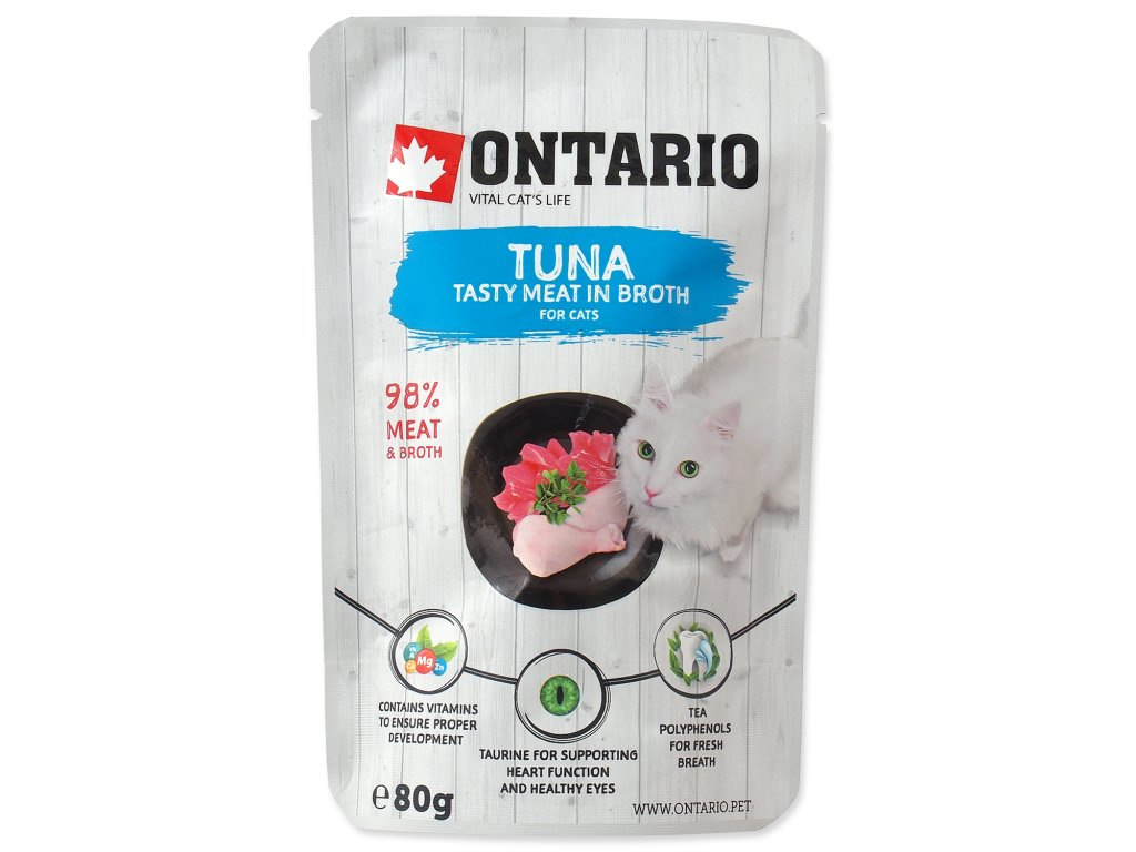 Kapsička ONTARIO Cat Tuna in Broth