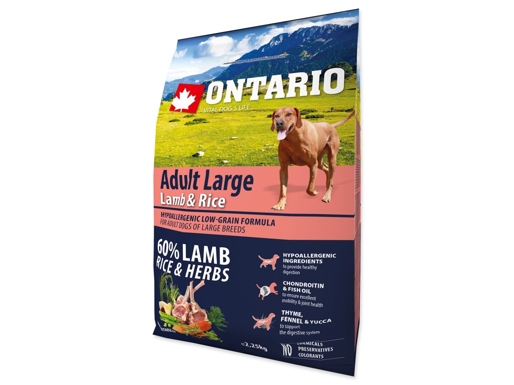 ONTARIO Dog Adult Large Lamb & Rice & Turkey