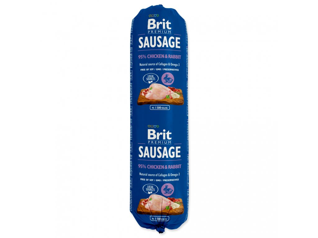 Salám BRIT Premium Dog Sausage Chicken & Rabbit