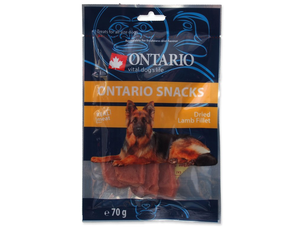 Snack ONTARIO Dog Dry Lamb Fillet