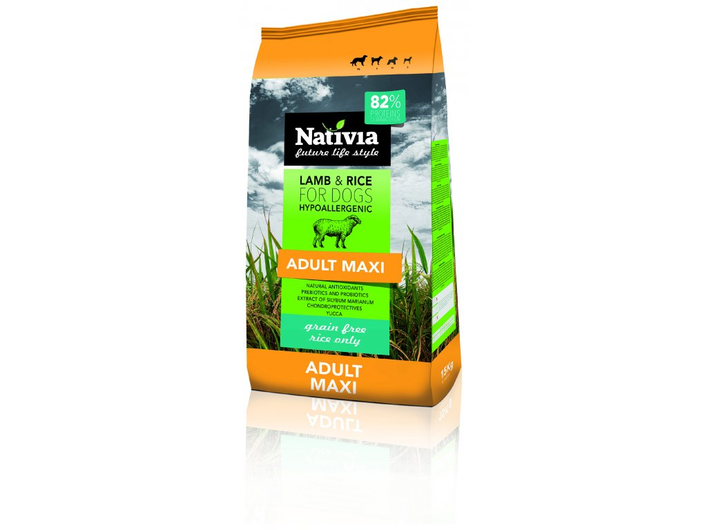 Nativia Adult maxi Lamb&Rice 15 kg