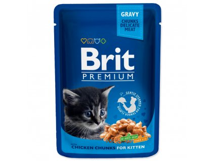 Kapsička BRIT Premium Kitten Chicken Chunks