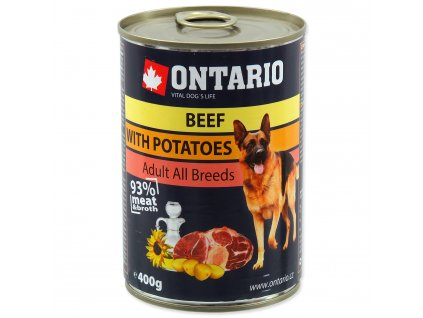 Konzerva ONTARIO Dog Beef, Potatos and Sunflower Oil