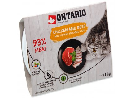 Vanička ONTARIO Cat Chicken & Beef with Taurine