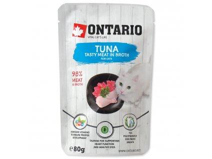 Kapsička ONTARIO Cat Tuna in Broth