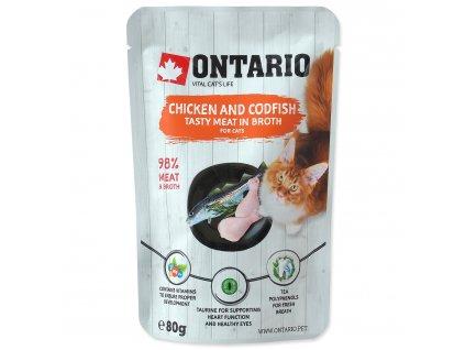 Kapsička ONTARIO Cat Chicken and Codfish in Broth