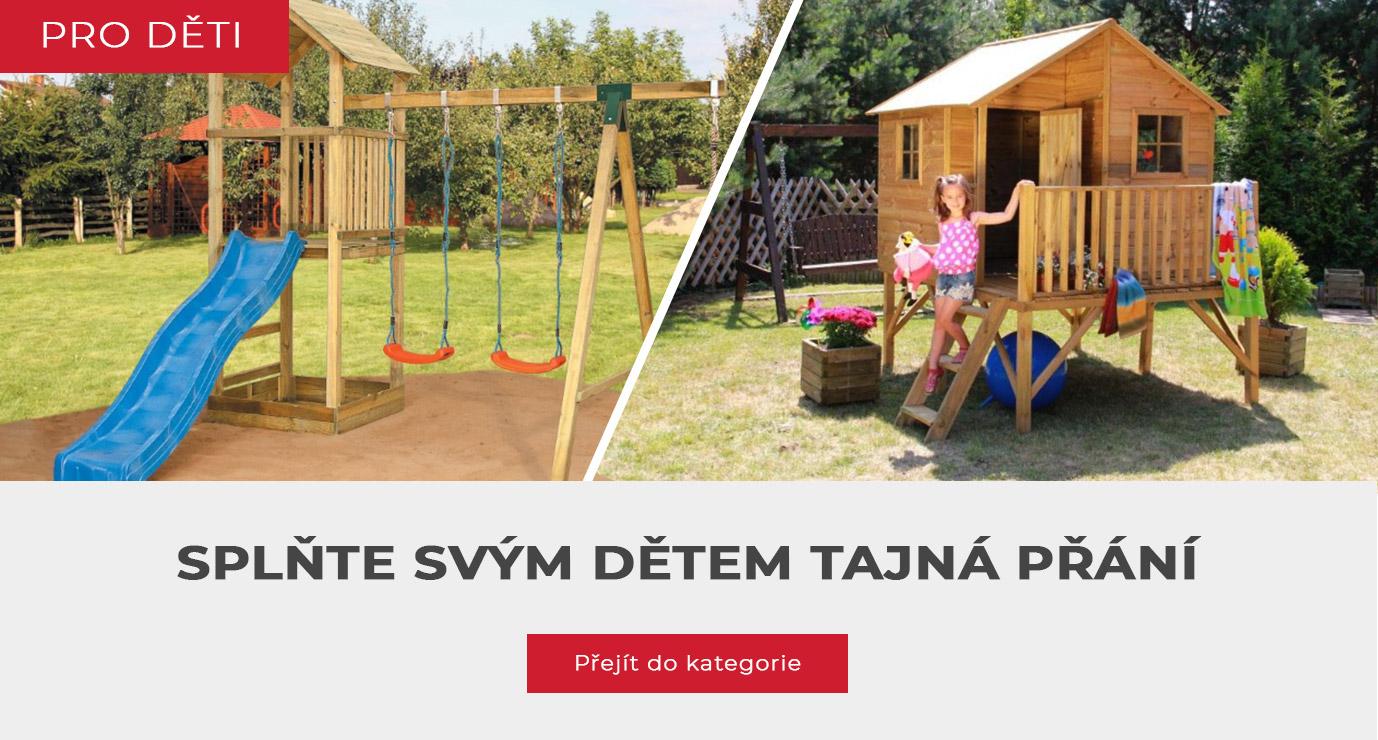 dětské domečky a hřiště